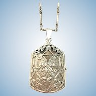 Vintage Sterling silver keepsake locket on