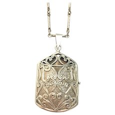 Vintage Sterling silver keepsake locket on