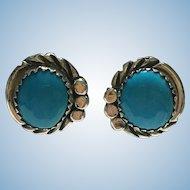 Vintage Bisbee turquoise sterling earrings