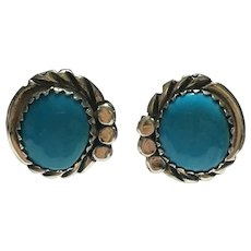 Vintage Bisbee turquoise sterling earrings