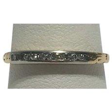 Vintage diamond band 14 kt gold