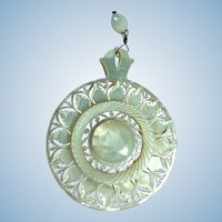Victorian hand carved mother of pearl necklace