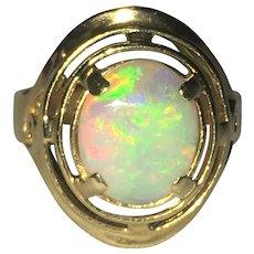 Vintage 14 kt gold Australian Opal ring