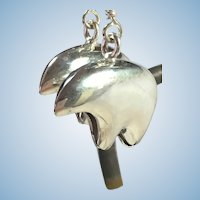 Vintage sterling silver Native American spirit bear earrings