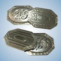 Victorian revival hand engraved cufflinks