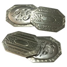 Victorian revival hand engraved cufflinks