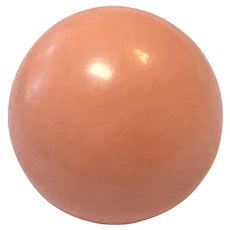 Victorian large pink coral button