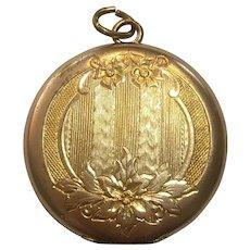 Vintage rolled gold engraved locket