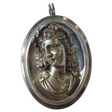 Fine Silver Bacchus Pendant by Henryk Winograd