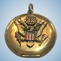Vintage Army Military locket with photos