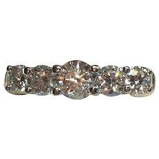 Vintage 1.25 TCW diamond band in 14 karat gold