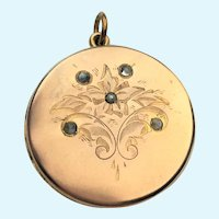 Victorian gold plated locket with moonstones  little Beatrice line