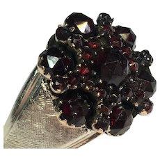 Vintage Bohemian Garnet Sterling ring