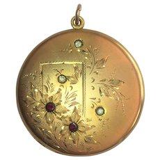 Victorian Revival  R.B. MacDonald Company locket 1.5 inch