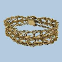 Vintage classic fancy link 14 kt gold bracelet