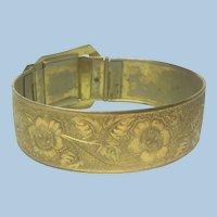 Victorian revival buckle bangle bracelet