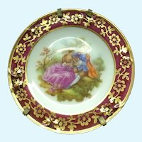 Limoges La Reine Fragonard Miniature Decorative platter