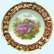 Limoges La Reine Miniature Decorative plate 1:12