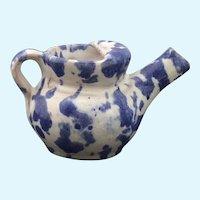 Miniature sponge ware Teapot by artist Celia Cole
