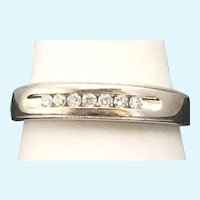 Vintage .18 tcw diamond band in 14 karat white gold