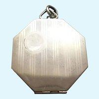 Vintage Sterling silver Art Deco Octagon locket