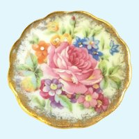 Vintage Limoges floral hand painted miniature plate