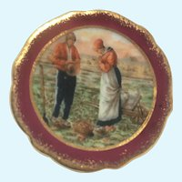 Vintage Limoges GS CO hand painted miniature plate