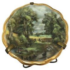 """Vintage Limoges France """" P Pastaud """" miniature plate"""