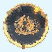 Vintage Limoges cobalt and gold miniature plate