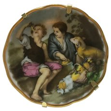 Vintage Limoges hand painted art mini platter 2.90 inches #2