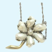 Vintage freshwater pearl pendant on 18 inch chain