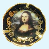 "Vintage Limoges 2 inch miniature plate, or platter ""Mona Lisa"""