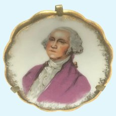 Limoges George Washington miniature plate