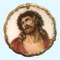 Vintage Limoges Jesus suffering hand painted miniature plate.