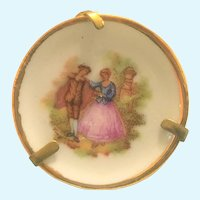 """Vintage Limoges """"Courting couple"""" miniature plate"""