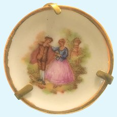"Vintage Limoges ""Courting couple"" miniature plate"