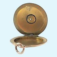Vintage Wightman & Hugh CO 1/4 14 kt gold shell set with a rose cut diamond