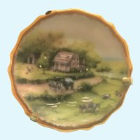 Vintage Limoges miniature hand painted country scene plate
