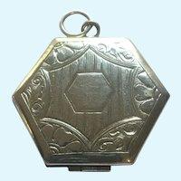 Vintage Victorian revival silver tone locket