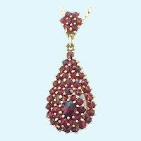 Vintage Bohemian garnet vermeil necklace