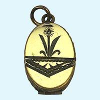 Edwardian SKM CO locket with engraving