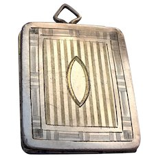 Art Deco D. F. Briggs Co. rolled gold locket