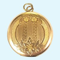 Vintage Victorian revival FHS & CO round locket