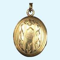 Dainty Victorian revival gold filled locket and chain