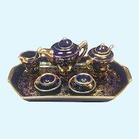 Vintage  Fontanille & Marraud limoges miniature tea set