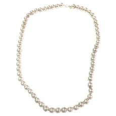 Vintage Tiffany & CO sterling silver 10mm bead necklace
