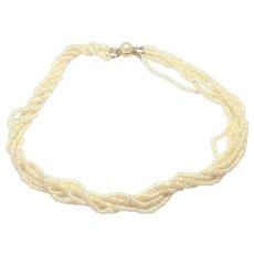 Vintage freshwater torsade necklace 20 inch