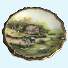 Vintage Limoges miniature Le Roy Scenic plate 1.75 inch