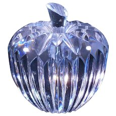 Waterford crystal retired apple paperweight