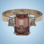 Custom made natural precious Topaz 14 karat rose gold ring